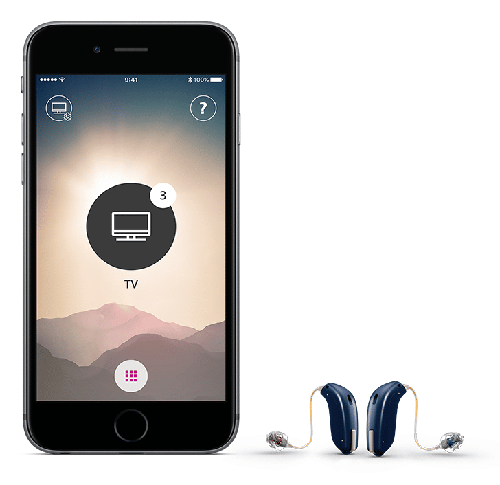 Contrôlez un appareil auditif depuis un smartphone